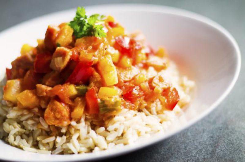 Groente ratatouille met rijst